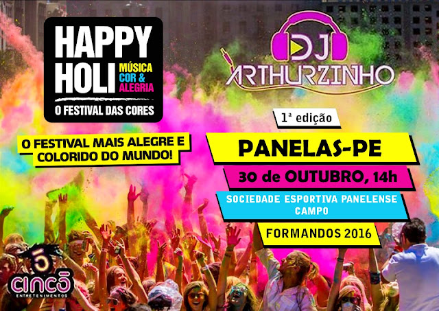 HAPPY HOLI FESTIVAL EM PANELAS-PE