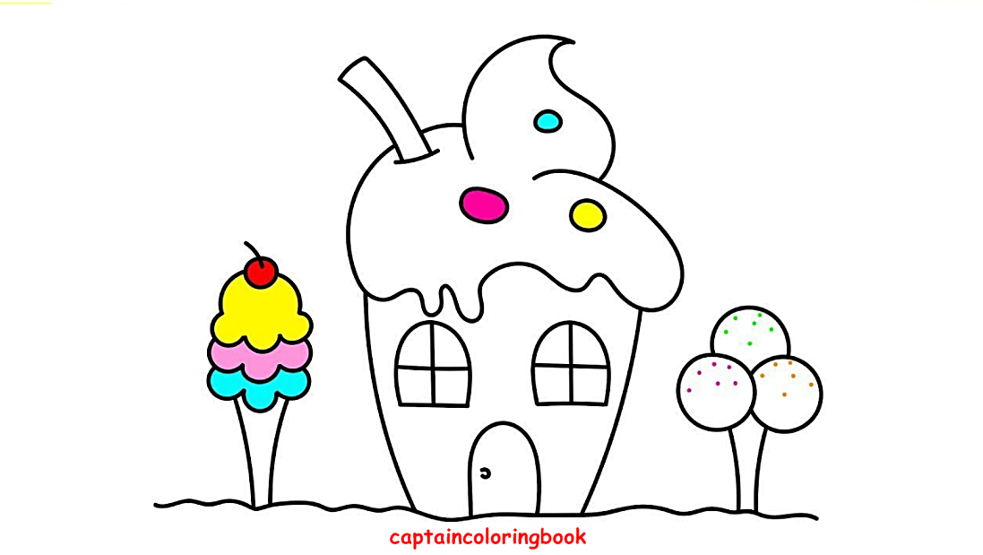 Ice Cream Coloring Book For Children Coloring Page