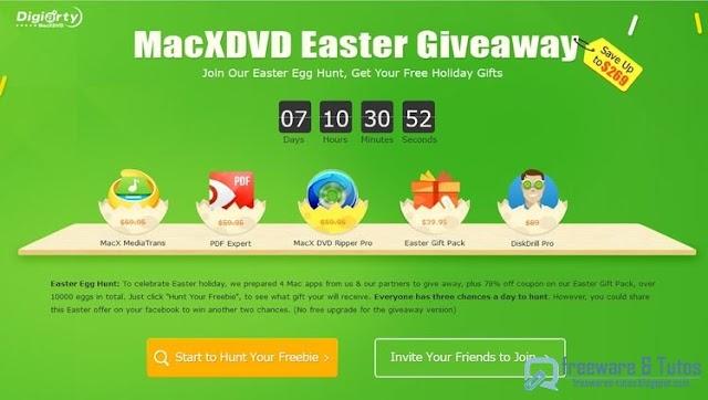 Offre promotionnelle : 4 logiciels Mac commerciaux gratuits pour Pâques !