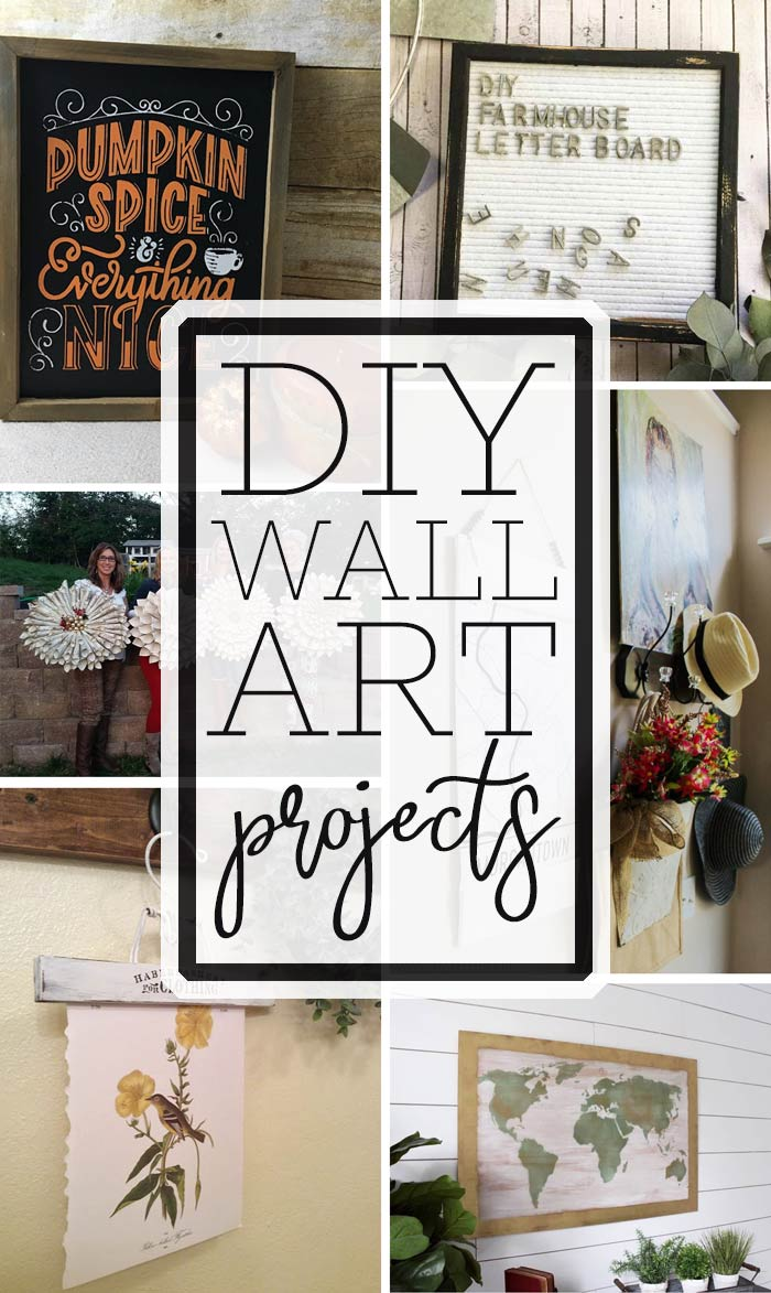 wall art with text overlay