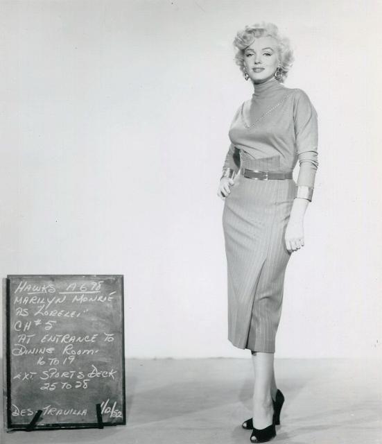 Las pruebas de vestuario de Marilyn Monroe