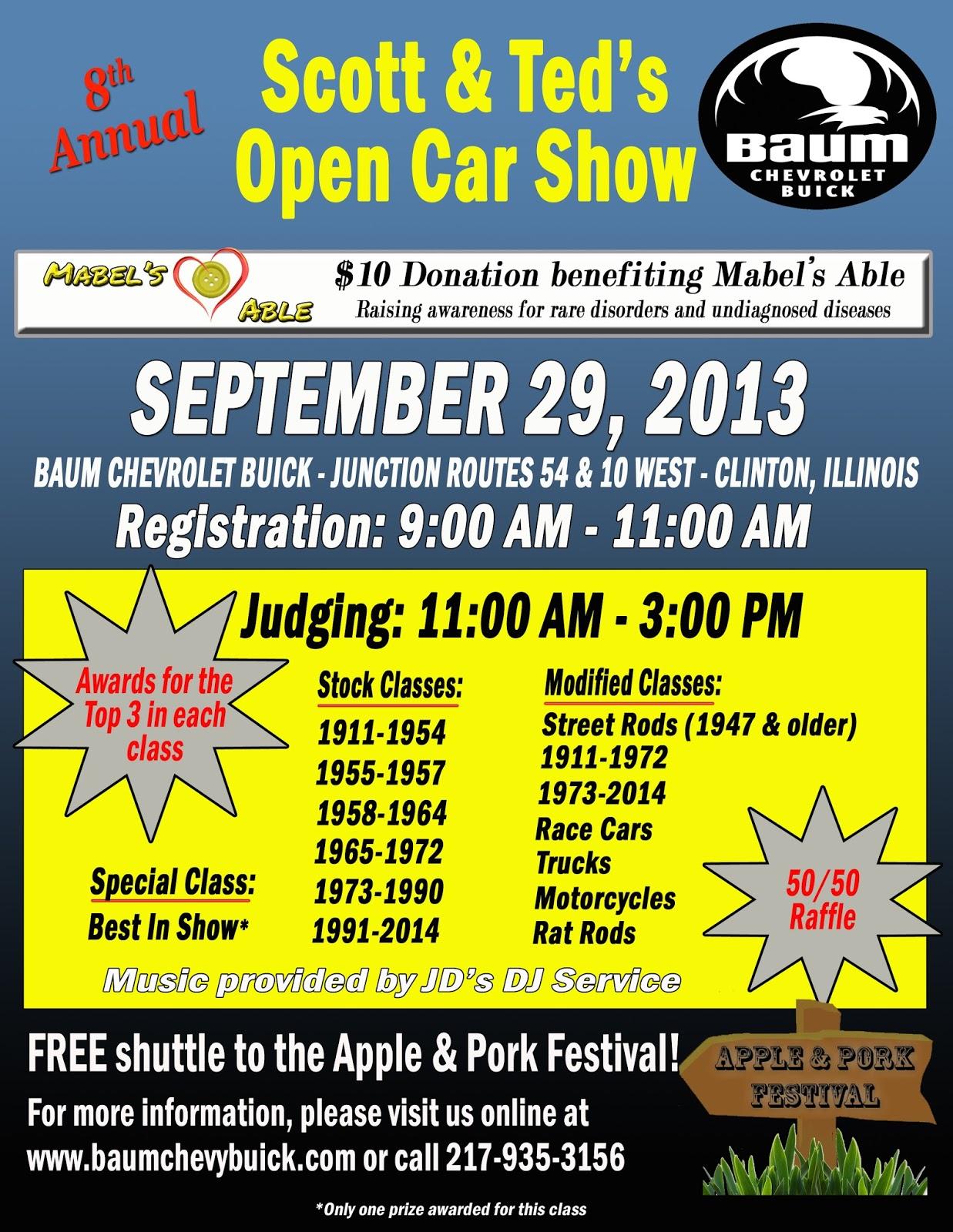 Baum Chevrolet Buick Car Show Details Announced