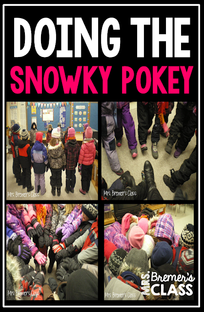A fun winter activity! Do the Snowky Pokey...that's what it's all about. FREE download. #kindergarten #winter #winteractivities #snow #freebies