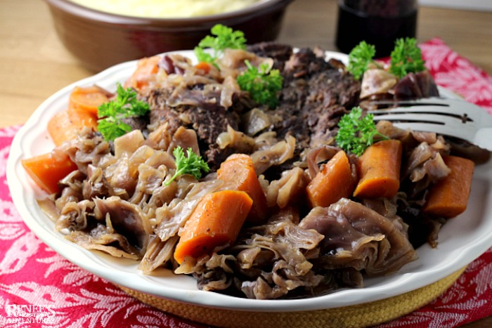 Slow Cooker German Style Pot Roast | by Renee's Kitchen Adventures