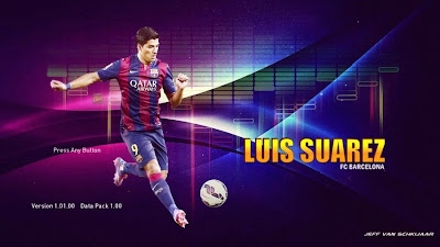 PES 2015 Luis Suarez Start Screen by iAMIRi
