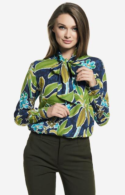 motyw liści na koszuli wólczanka liście, praca