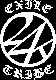 EXILE 24k TRIBE ジャージロゴ 白版