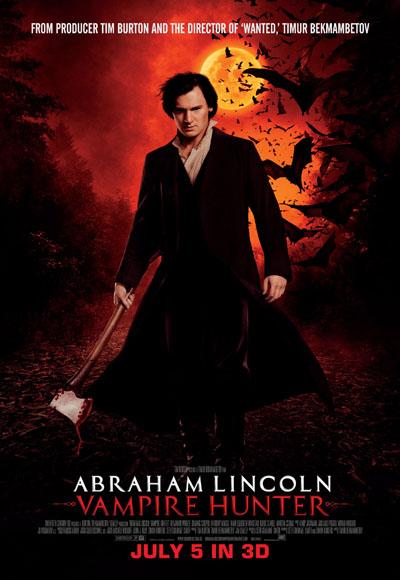 Poster Of Abraham Lincoln Vampire Hunter 2012 720p Hindi BRRip Dual Audio