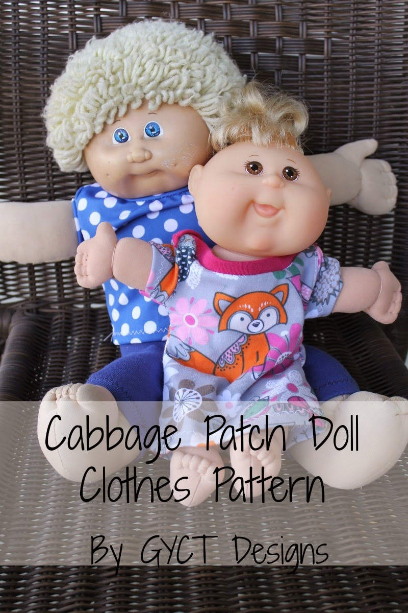 How to Create Cabbage Patch Doll Clothes - Free Pattern - GYCT Designs