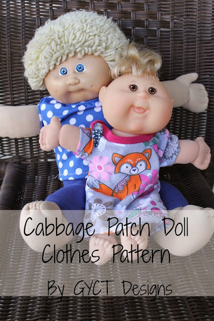 Follow this step by step tutorial on how to sew up Cabbage Patch doll clothing pattern for baby dolls in infant and doll sizes.