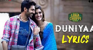Lirik Lagu Dunniya - Luka Chuppi - Akhil - Dhavi Bhanusali