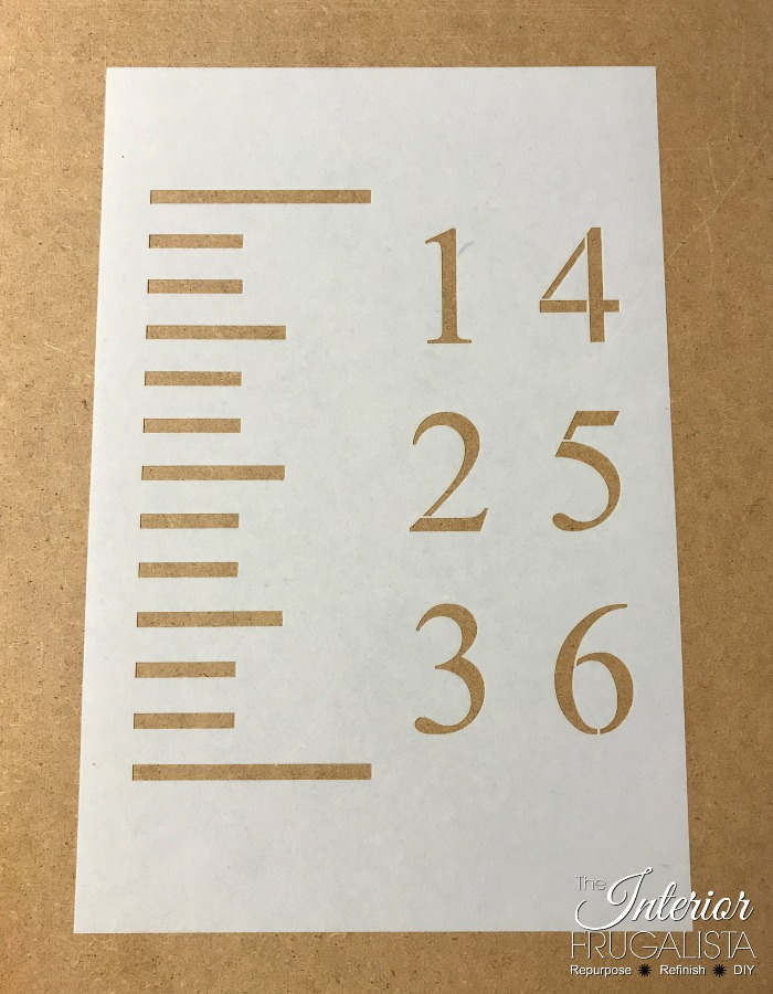 Easy DIY Yardstick Growth Chart Stencil