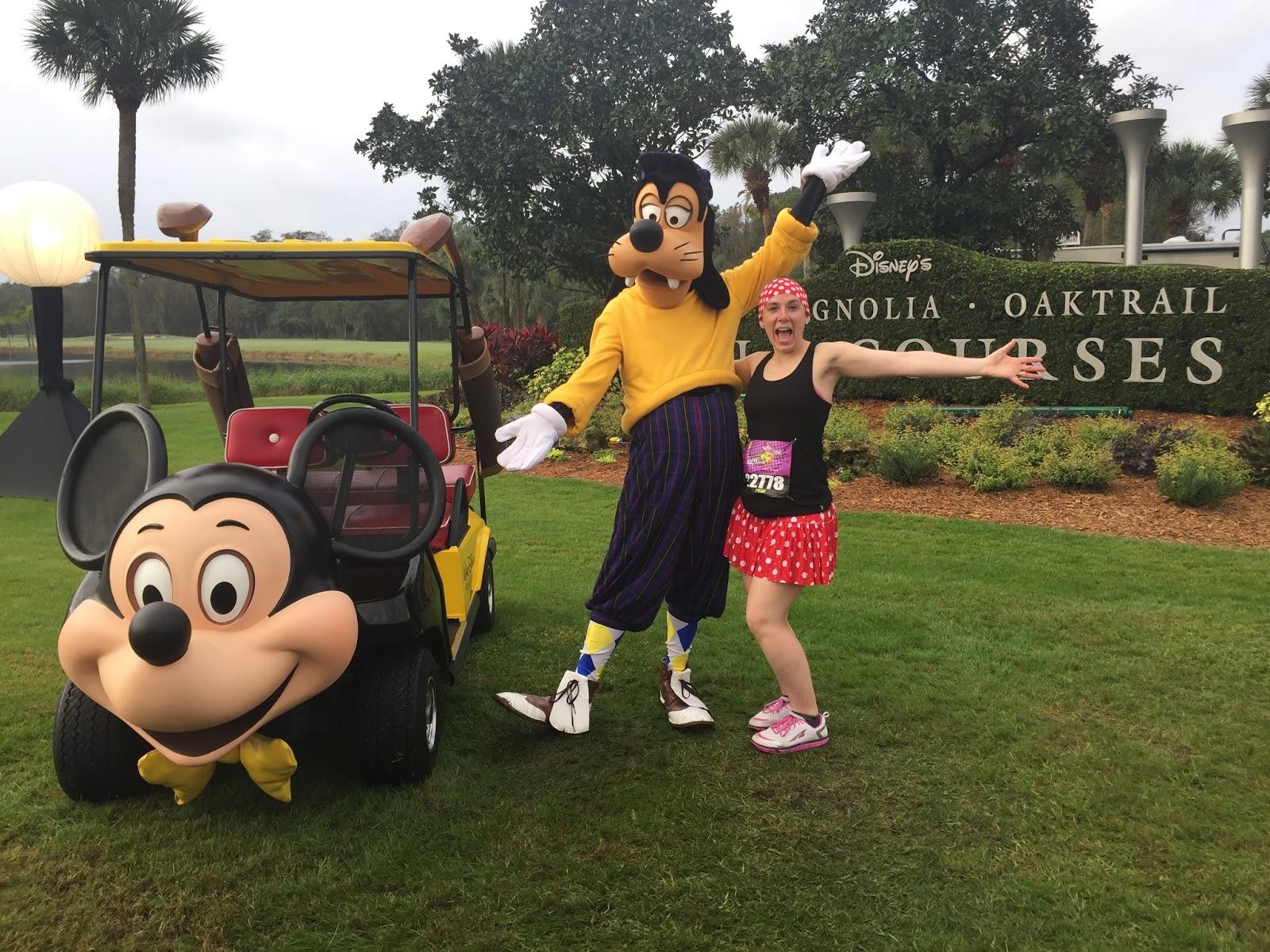 Dopey Challenge Mickey Marathon 2016 Me with Golf Goofy