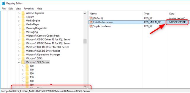 Comment connaitre de nom de l'instance SQL Server sur ma machine ?