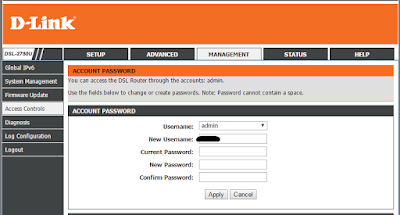 Change D-Link Admin Password