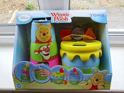 Winnie the Pooh toys, stackable bath toys, Disney bath toy