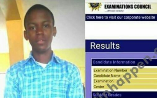 Brilliant Boy Smashes WAEC Result As He Makes 7As