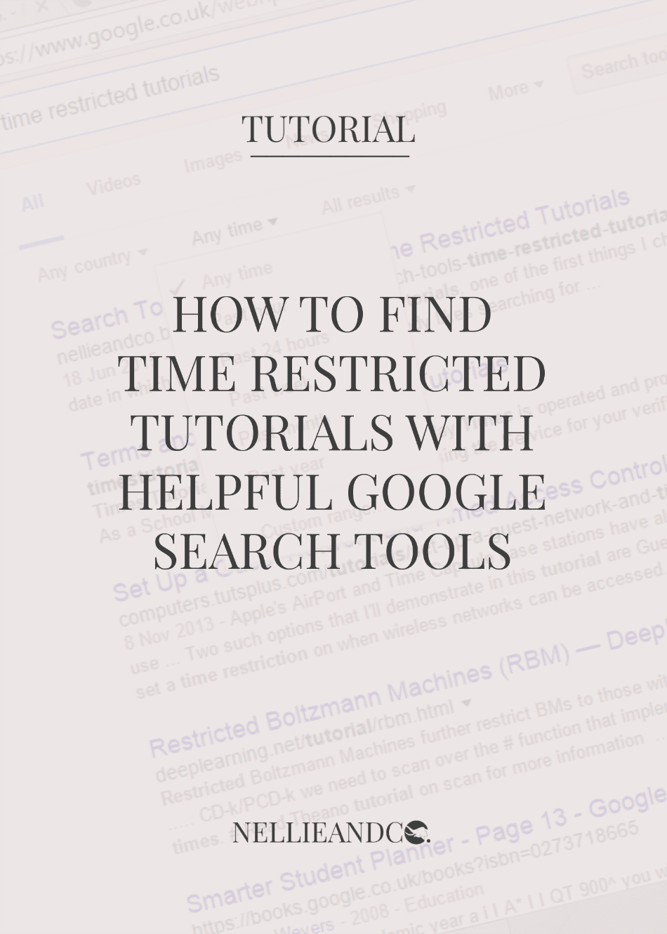 Don't waste time sifting through irrelevant tutorials to find the most up-to-date, most helpful for your problem, use Google Search Tools to make your search quicker, easier and much more precise. Click through to find out how.