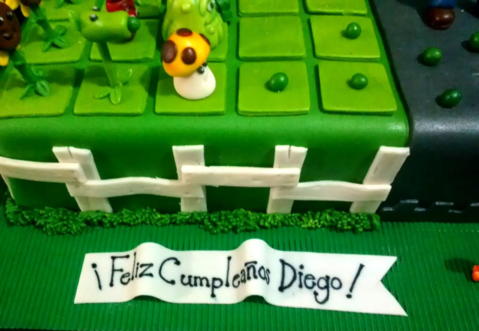 Creando En Azucar: Torta Plantas Vs Zombies