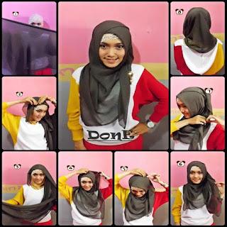 model jilbab pesta segi empat
