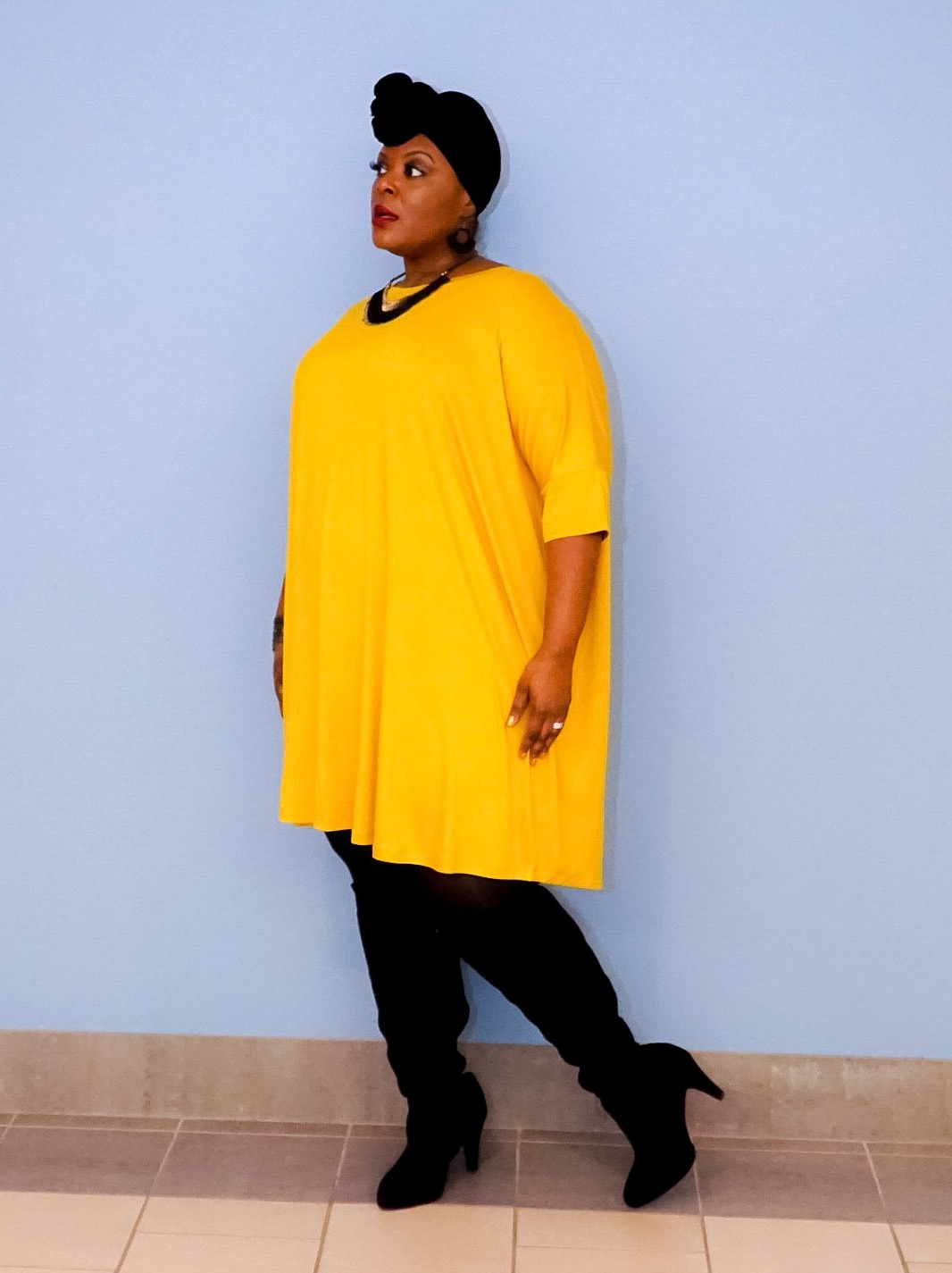 asos plus size dress, plus size yellow dress, plus size tshirt dress