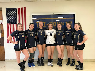 (Pictured are the seven seniors from l-r are: Sarah Killoy, Sabrina Howarth, Elizabeth Naff, Emma Mangiacotti, Emily Jutras, Ashley Barry, and Carolyn MacPherson)