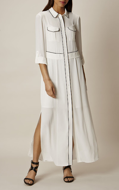 long white shirt dress
