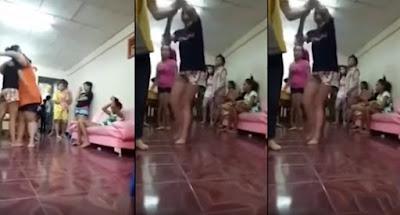 امراة ظبطت فتاة مع زوجها فى الشقه