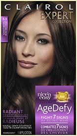 Nice'n Easy Age Defy Permanent Hair Dye Darkest Brown 3.5