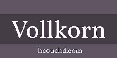 تحميل خط Vollkorn { خطوط }