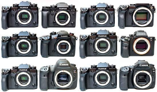 Сравнение размеров зеркальных и беззеркальных камер