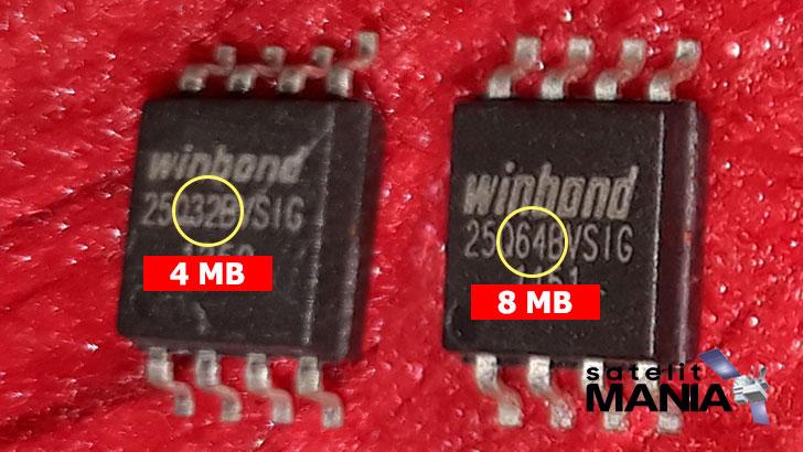 Cara Membedakan ic eeprom 4mb dengan 8mb