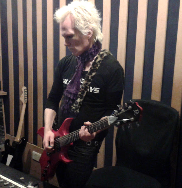 David Ryder Prangley recording guitar parts on Lilygun's second album photo