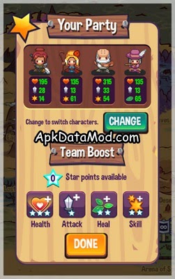Swap Heroes 2 apk your party and booster