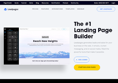 Leadpages work with the most popular marketing platforms