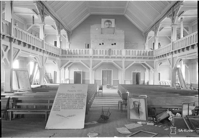 The church in Kurkijoki, Ladoga Karelia, 12 August 1941 worldwartwo.filminspector.com