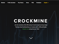 CrockMine Review - Register Free 1GH/s Cloud Mining Cryptocurrency