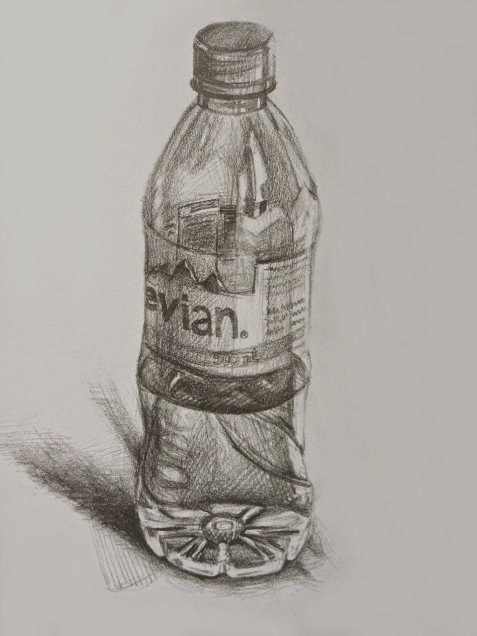 It is a picture of Terrible Drawing Of Bottle