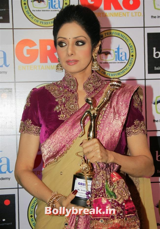 Sridevi, Shriya Saran, Sridevi, Tamanna at GR8 Women Awards 2014