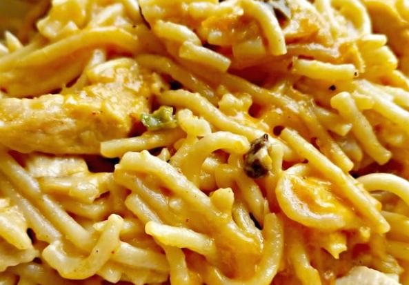 Easy Chicken Spaghetti #easy #dinner