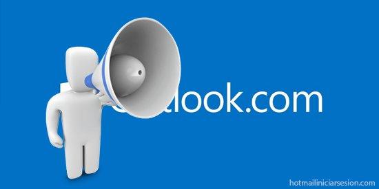 publicidad predeterminada dentro de Outlook.com