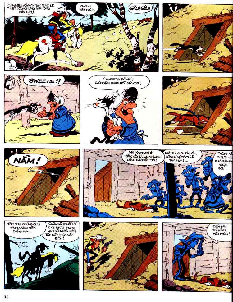 Lucky Luke tap 15 - ma dalton trang 37