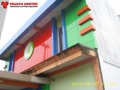 Aluminium Composite Panel, Letter Galvanil, Partisi Gipsum, Pintu & Jendela Aluminim, Pintu Frameles, Proyek Gresik,