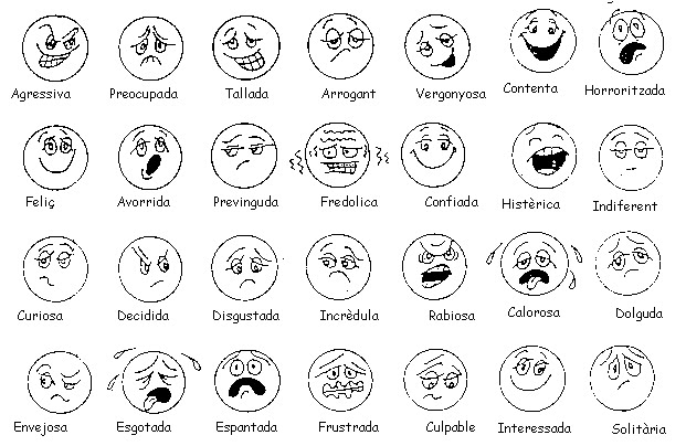 Imagenes De Sentimientos Y Emociones Para Colorear