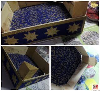 caja de fruta reciclada