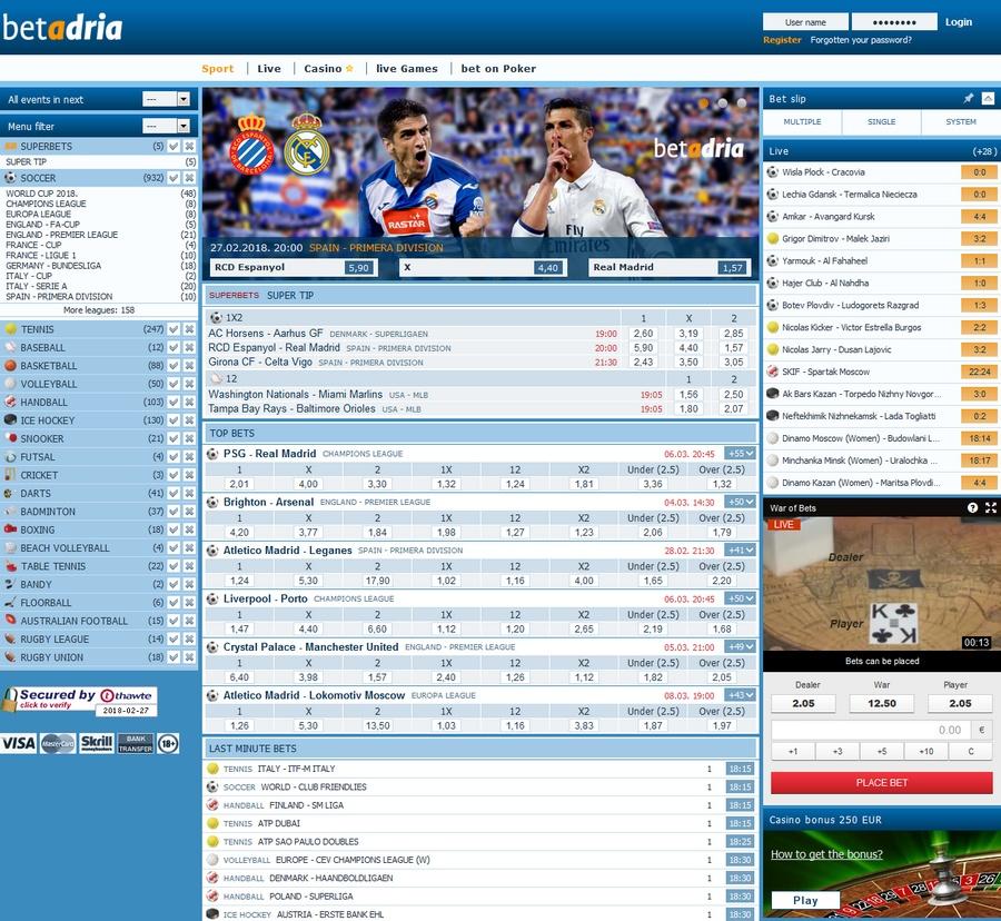 Betadria Sportsbook