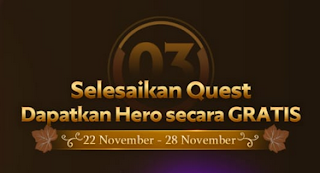 Season of Thanks Giveaway: 5 Heroes dan 2 Skins Gratis Mobile Legends