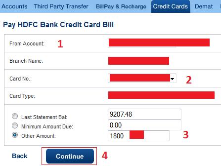 FINANCE guru SPEAKS!: How To Pay HDFC Credit Card Bill ...