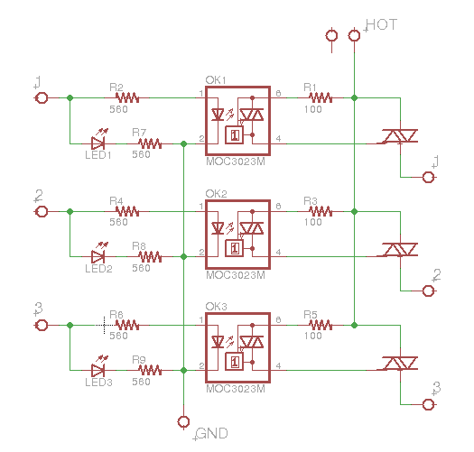 Makeatronics: 24V AC Solid State Relay Board on