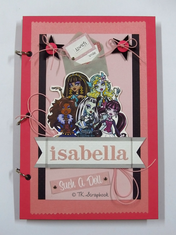 álbum de fotos scrapbook monster high